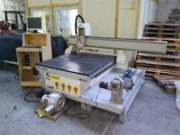4 axis CNC Router 1200 x 1200 bed with rotary lathe, vacuum bed and pump