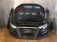 Front end for Audi A6 C7 (4G) 2.0 S-LINE 2011- 2016 LHD headlight, bumper, bonnet, radiator pack