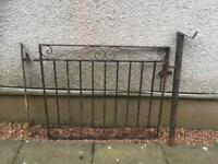 Cast iron gate with posts