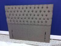 BRAND NEW Upholstered Headboard Kingsize Grey