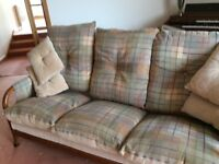 Cintique 3 seater sofa and 2 chairs , cushions are reversible