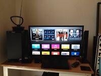 Job Lot: Toshhiba 32inc TV ,Panasonic soundbar + sub, Sony DVD, Apple TV, over 60 DVDs, Bargin gift