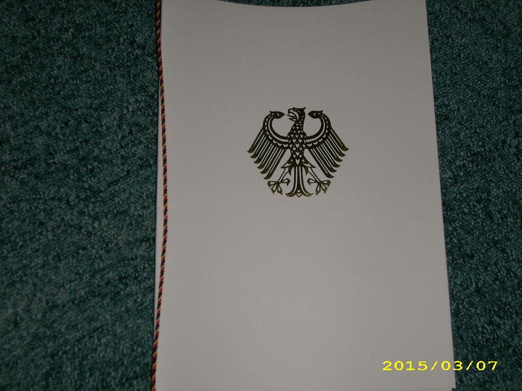 Orden BRD BW Blanko Urkunden Mappe Bundesverdienstkreuz