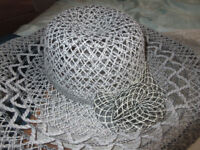 LADIES PRETTY LACE-EFFECT FORMAL/SUMMER HAT