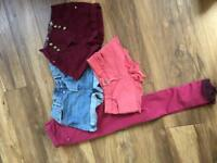 Clothes bundle - size 8 shorts & jeans womentop shop , river island shorts and jeans