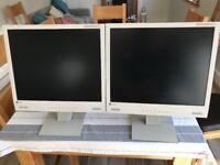 Pair of Eizo 17 inch FlexScan L767 Flat Screen Monitors