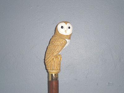walking stick handle/walking cane/handle/ OWL /barn owl /walking stick supplies