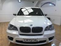 BMW X5 3.0 XDRIVE40D M SPORT 5d AUTO 302 BHP 7 SEATS +PAN (white) 2012