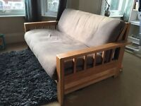 Futon Company Double Sofa Bed with Grey Cover