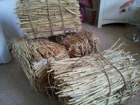 Four 'faux' hay bales