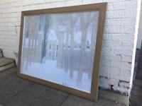 Andre Brasilia 'loupeigne sous la neige' print with frame