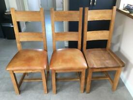 3 very sturdy wood chairs