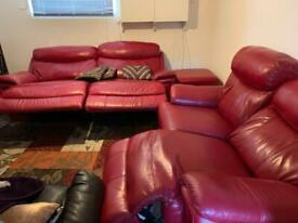 Recliner sofa set with foot stool with storage