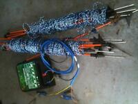 as new 240v electric energizer and 50mtrs of 3 rail netting used once as new cost £150