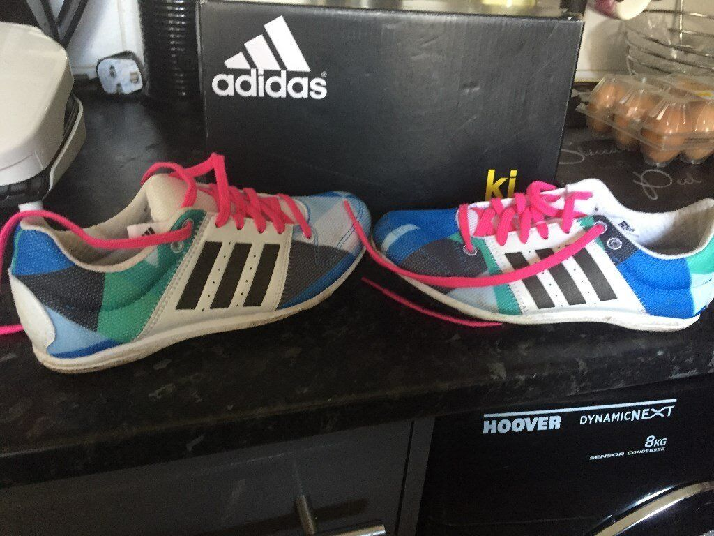 Adidas TrackField Running Shoes (Size 3in NewportGumtree - Adidas Track & Field Running Shoes Spikes underneath the soles Size 3 Junior In good condition £3 collection only from Lliswerry Items will only be held for 48hrs due to the increase of timewasters sorry