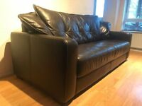 DFS Classic Dark Brown Leather 3 seater Sofa DELIVERY