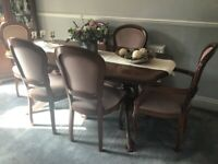 Dinning table. and chairs
