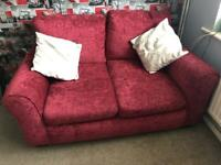 2 seat sofa bed and matching small 2 seat sofa