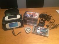 White Sony PSP Console with 11 Games, 2 Movies and Other Accessories