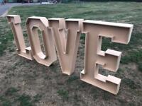 Wedding 4 foot high LOVE letters £275.00