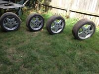 AMG WHEELS SET OF 4 WITH TYRES