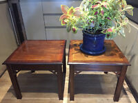 Pair of quality coffee tables
