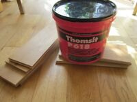 Wood floor adhesive