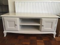 Dunelm tv stand rrp £120 cream/ neutral just £60