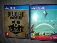 2 PS4 GAMES - NO MAN'S SKY & DEADLIGHT