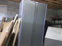 Large cabinet with sliding doors ideal garage storage etc