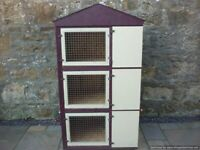 3 rabbit/guinea pig/chick/small animal hutch tower