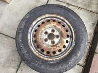 VW T4 Spare wheel and tyre