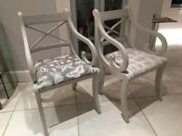 Shabby Chic Carver Dining Chairs