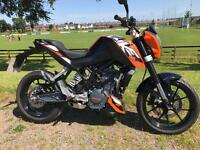 2015 KTM Duke 125 spotless low miles 2229 - finance etc £2599 must be seen - check out the video