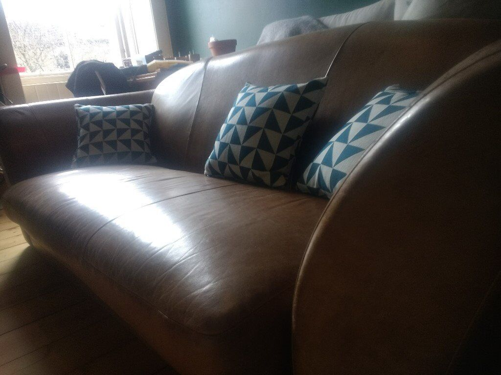 Leather Sofa, 3 Pers, Good Condition, Very Comfortable
