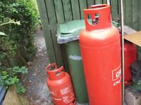 LARGE GAS CYLINDER, also small ones