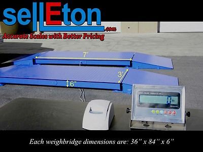 New 60000 Lb Axle Truck Weighing Scale For Cars Trailers W Printer Indicator