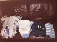 Baby boy up to 1 month clothes bundle