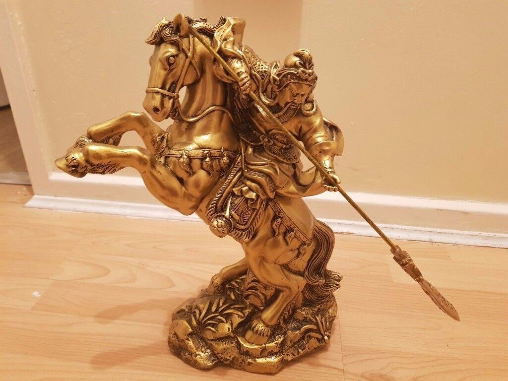 HUGE GOD ON HORSE STATUE