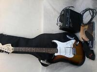 squier stratocaster electric guitar by fender