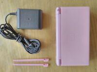 Nintendo DS Lite Pink + Games + Rom Kit
