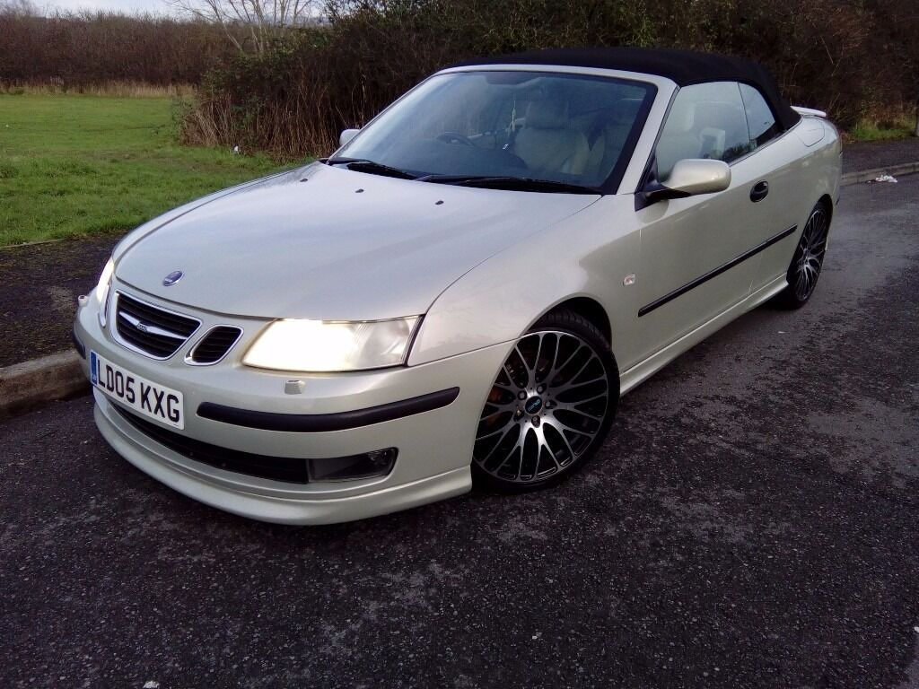 2005 saab 9 3 auto aero 210bhp convertible new mot feb. Black Bedroom Furniture Sets. Home Design Ideas