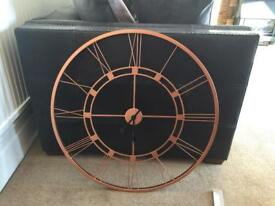 Extra large copper clock.