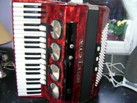 delicia 120 bass accordion with mics