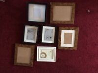 Selection of wall picture/photo frames vintage wall montage