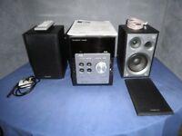 Panasonic Stereo System + DAB Radio + Speakers + Remote - Model.SC-PM45DB