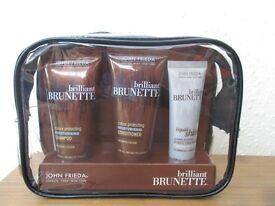 John Frieda Brilliant Brunette Hair Care Travel set