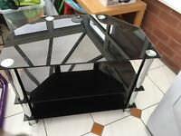 Black glass tv stand 3 tier