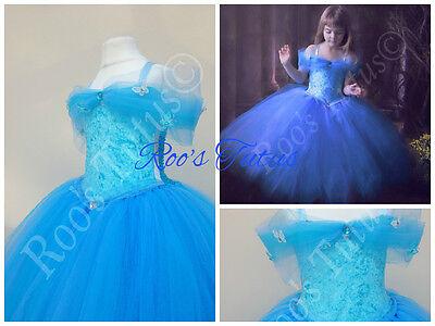 Cinderella Inspired Dress Deluxe Tutu Dress Costume  Handmade  Princess Dress Up