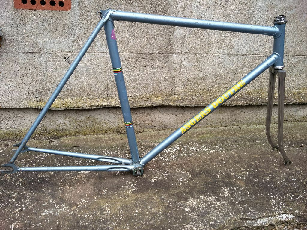 Vintage french track frame - single speed / fixed gear - Ishiwata ...